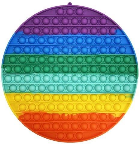 Антистресс игрушка Pop It, круг большой 30 см, радужный