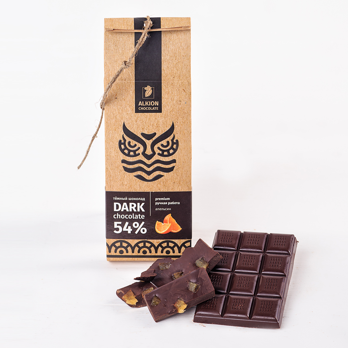 Шоколад Алкион темный с кусочками апельсина