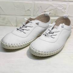 Спортивные туфли мокасины белые женские Rozen 115 All White.