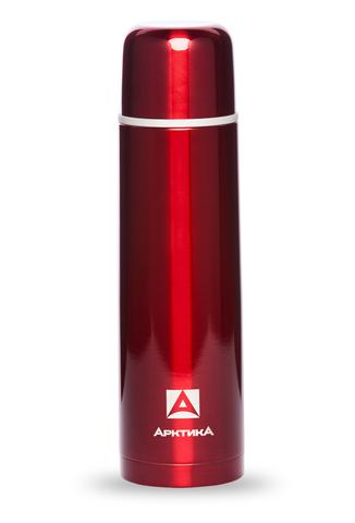 Термос Арктика (1 литр) с узким горлом классический, красный