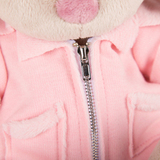 Зайка Ми в розовой меховой курточке
