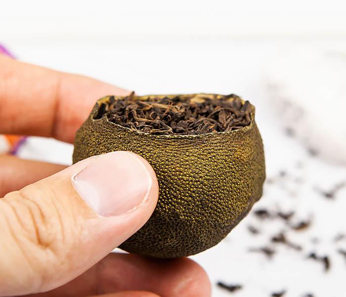 TEA-CH117 Шу Пуэр в мандарине (1 шт) фото 07