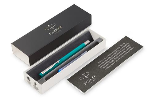 Перьевая ручка Parker Vector Standard F01, цвет:  BLUE GREEN123