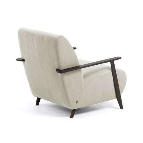 Кресло Marthan бежевое вельветовое