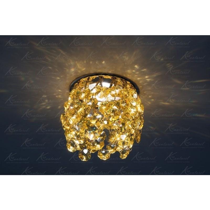 Встраиваемый светильник Kantarel Crown CD 025.2.10 lt topaz