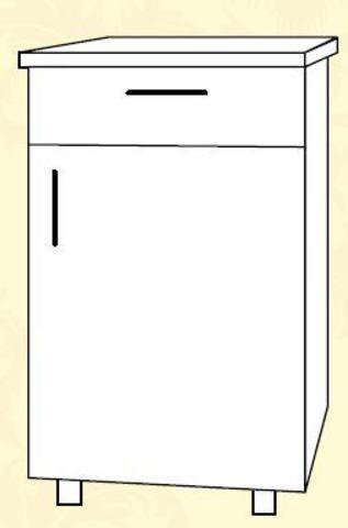 Империя С1Я 400 Шкаф нижний /1 ящик