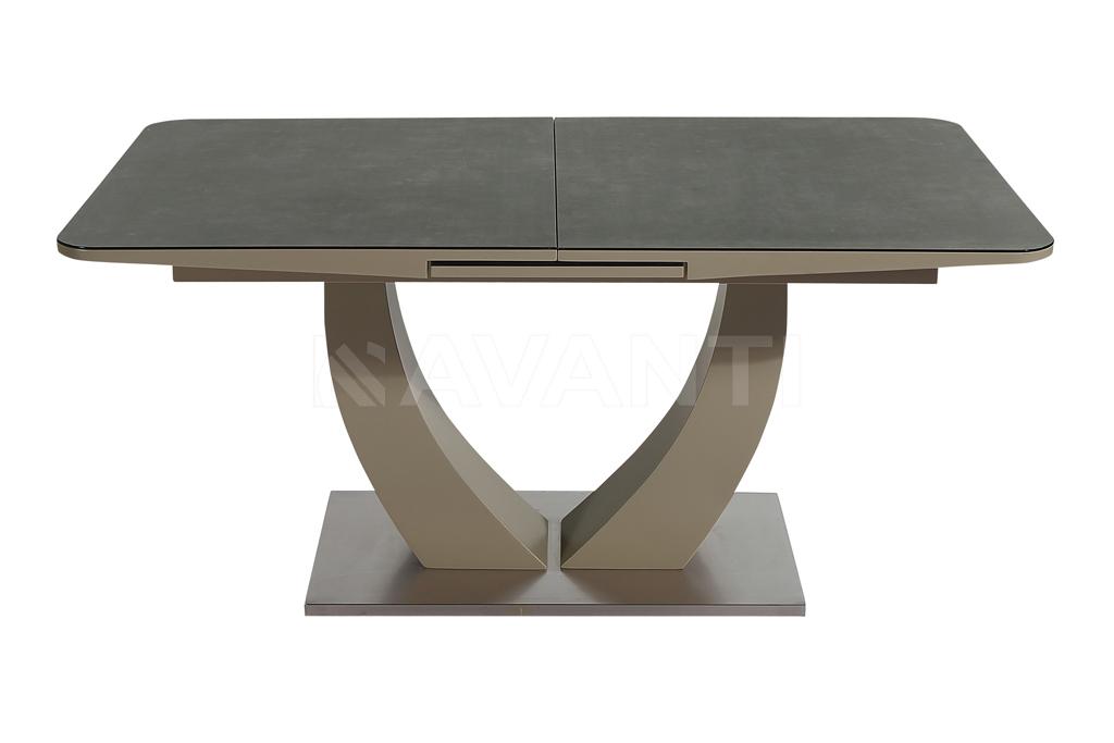 Стол обеденный ROCK (1600-2000х900х760) (мокка/стекло латте)
