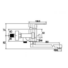 Смеситель KAISER Sonat 34155 для ванны схема