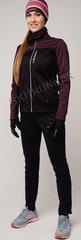 Женский утеплённый лыжный костюм Nordski Active Base Purple/Black 2020 без лямок