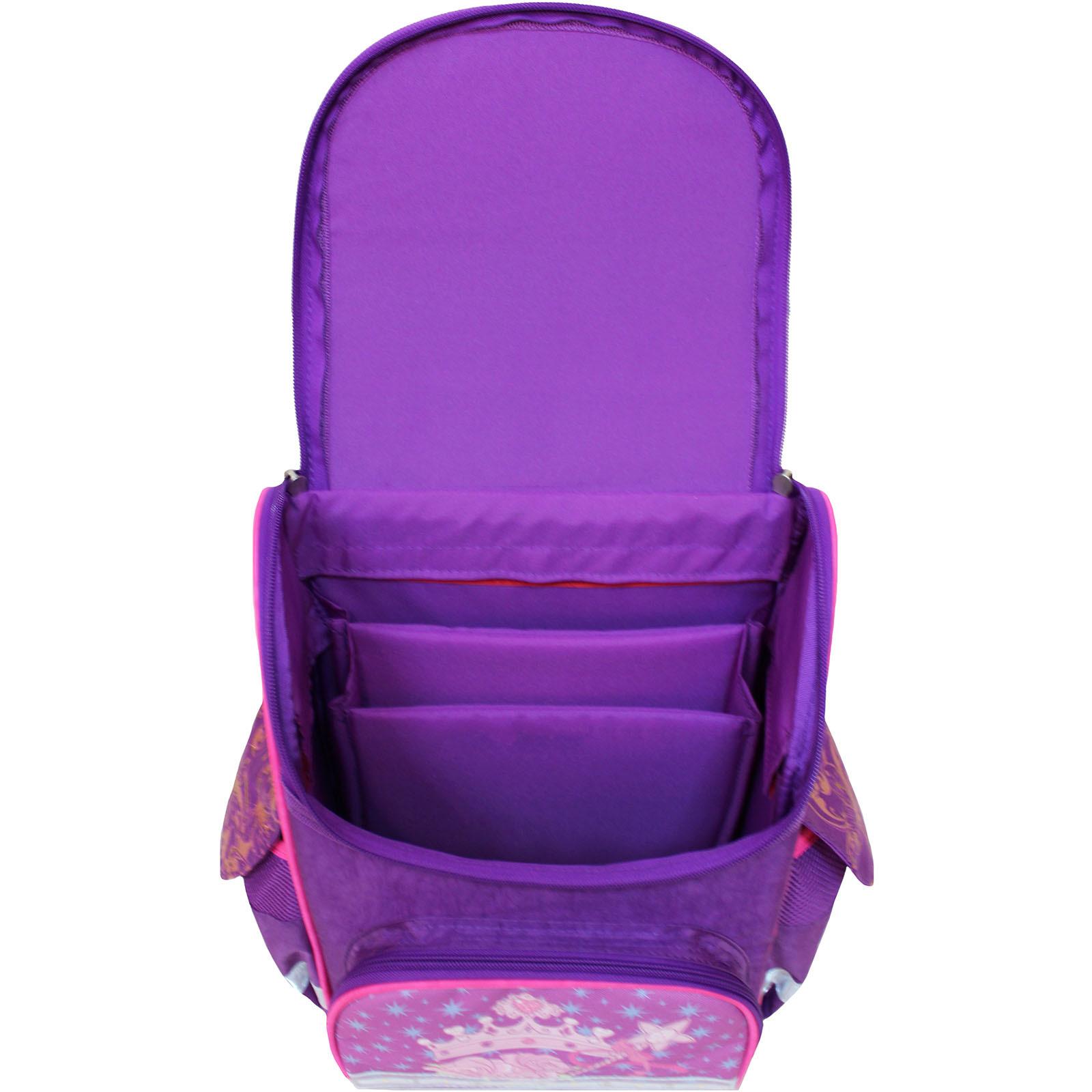 Рюкзак школьный каркасный с фонариками Bagland Успех 12 л. фиолетовый 387 (00551703)