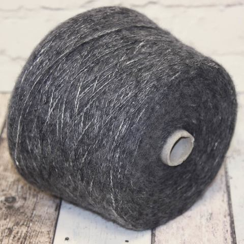 Вспушенная шерсть на хлопке ECAFIL MARVEL 300 серо-белый