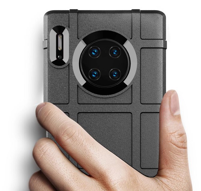 Чехол для Huawei Mate 30 Pro (Mate 30 RS) цвет Black (черный), серия Armor от Caseport