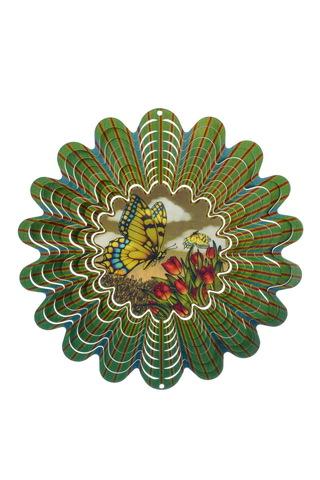 Анимированный ветряной спиннер Бабочка сепия 25см (Iron Stop)