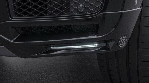 Губа переднего бампера  с LED для Mercedes G63 amg w464