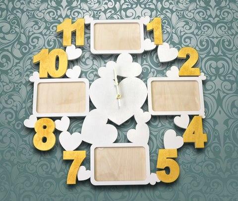 Часы фоторамка ДекорКоми из дерева