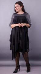 Едем. Розкішна сукня для пишних дам. Чорний.