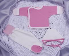 Набор для новорожденных Малыш 3 предмета (розовый)