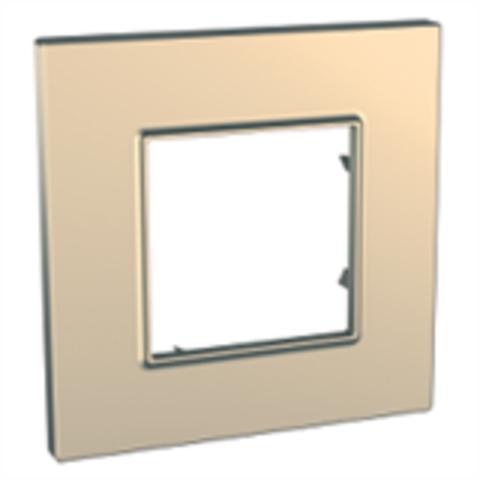 Рамка на 1 пост. Цвет Медь. Schneider Electric Unica Quadro. MGU6.702.56