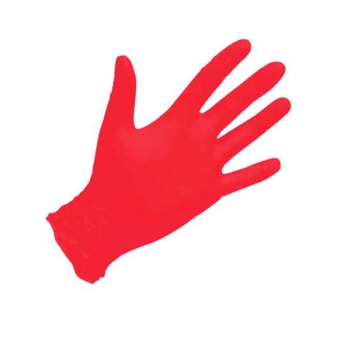 Перчатки нитриловые красные 100 шт