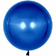 К 18''/46 см, Сфера 3D, Deco Bubble (Бабл), Синий, 1 шт.