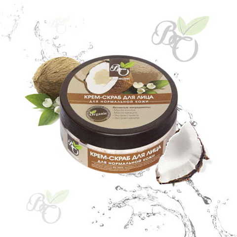 Натуральный крем-скраб для лица «Для нормальной кожи», Bliss organic 150 мл