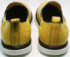 Кэжукал мужские туфли летние легкие King West 053-1022 Yellow-White.
