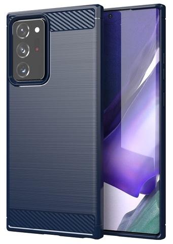 Чехол накладка в стиле карбон на Samsung Galaxy Note 20 Ultra, серия Carbon от Caseport