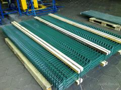 Секция заборная ОПТИМУМ, яч.50х200мм, d=4мм, (1,5х2,5м) с ПВХ покрытием