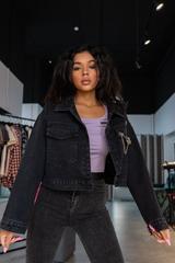 Джинсовая куртка с удлиненным рукавом интернет магазин