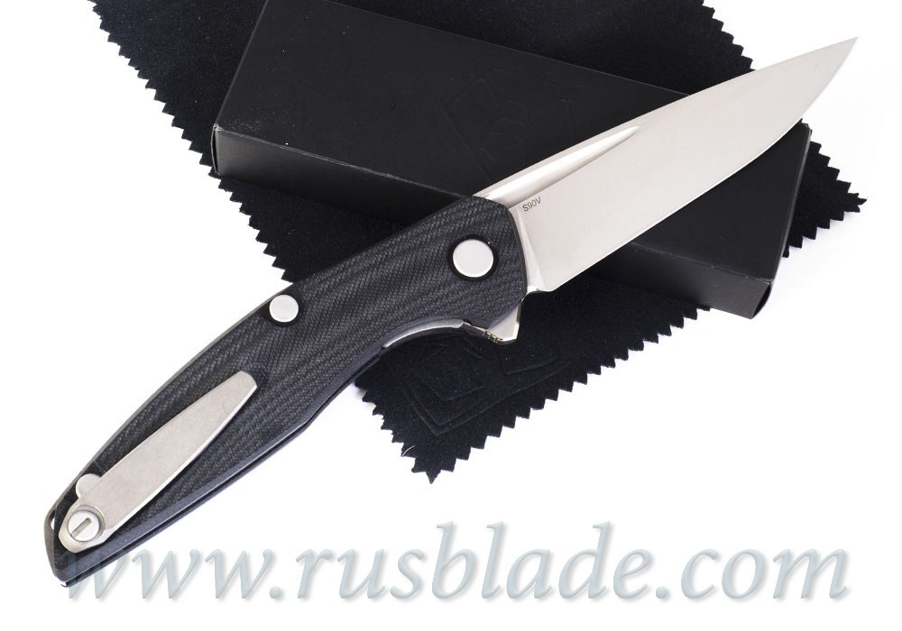 Shirogorov 111 S90V groove G10 black - фотография