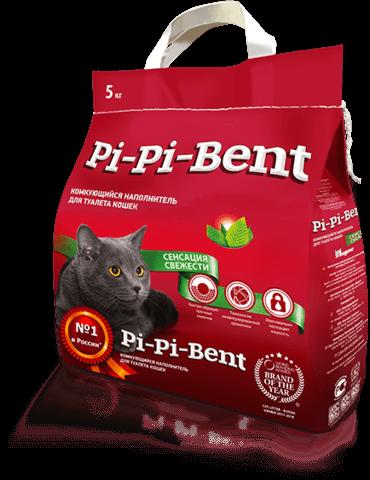 купить пи-пи бент Pi-Pi-Bent Сенсация свежести комкующийся наполнитель 5 кг