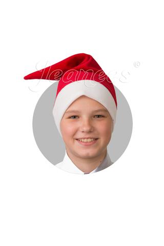 Колпак Деда Мороза (красный плюш)