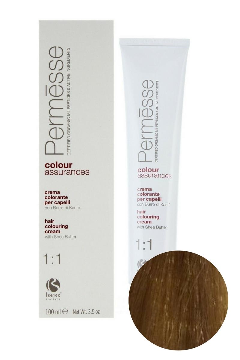 Крем-краска для волос 8.003 Светлый блондин теплый Permesse, Barex