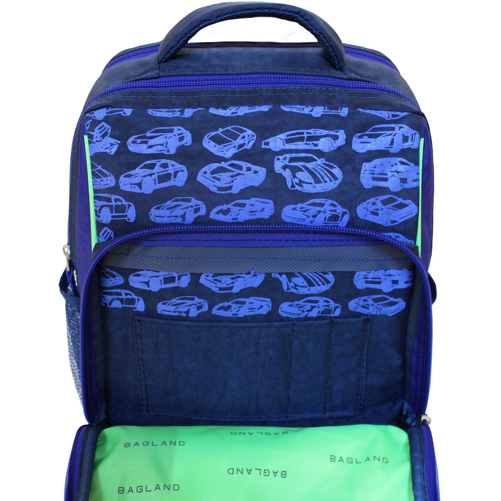 Рюкзак школьный Bagland Школьник 8 л. 225 синий 58м (0012870)