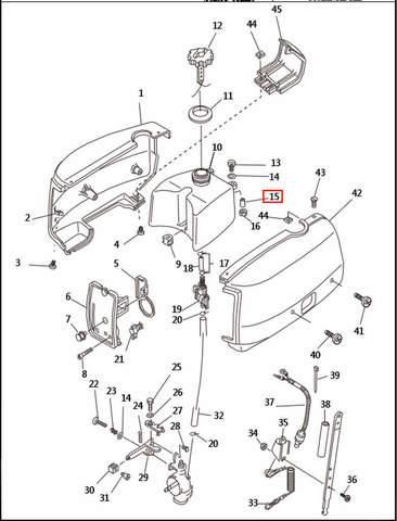 Втулка резиновая  для лодочного мотора T2,5 SEA-PRO (1-15)