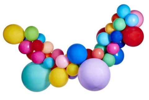 Гирлянда разнокалиберная с большими шарами
