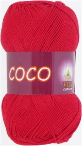Пряжа Coco (Vita cotton) 3856 Красный