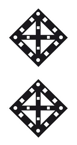 Железнодорожный знак «Поднять нож, закрыть крылья» (два препятствия)