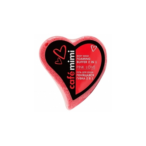 Cafe mimi Гель для душа Пенящаяся губка 2в1 PINK LOVE 60г