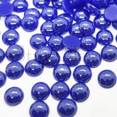 Купить оптом термоклеевой керамический полужемчуг синий Sapphire