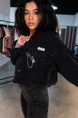 Джинсовая куртка с удлиненным рукавом недорого