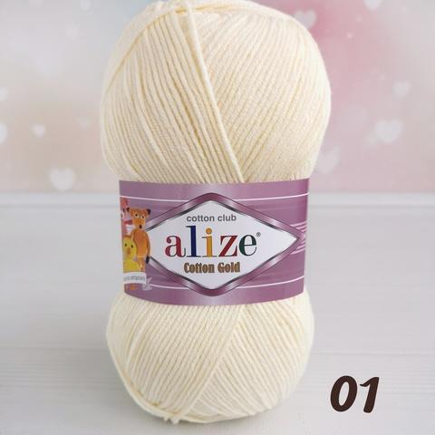 ALIZE COTTON GOLD 01, Молочный