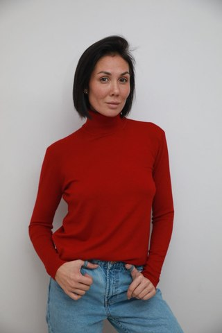 The Flip Flop TURTLENECK  Over Size бордо