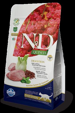 Сухой беззерновой корм Farmina N&D GF Cat Quinoa Digestion Lamb