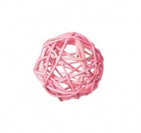 Плетеные шары из ротанга (набор:12 шт., d5см, цвет: розовый)