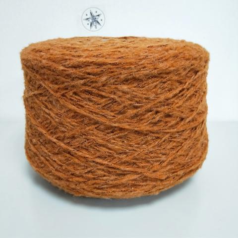 Linea Piu, Меринос 95%, Люрекс 5%, Коричневато-оранжевый (сиена) с люрексом, 250 м в 100 г