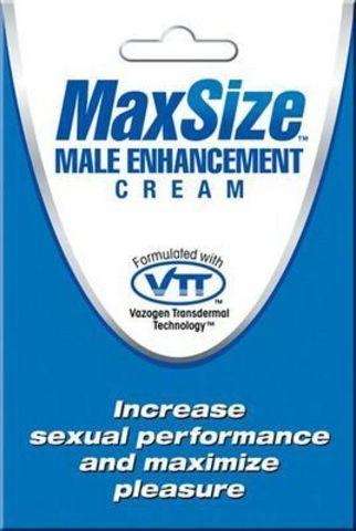 Пробник мужского крема для усиления эрекции MAXSize Cream - 4 мл.