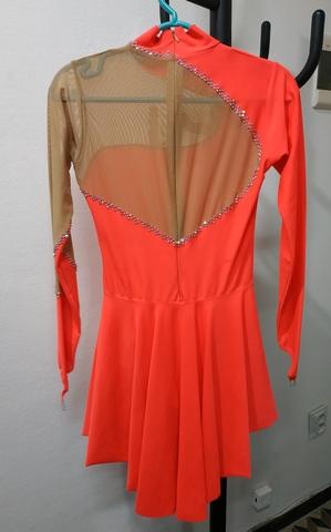 Платье для выступлений Б/У 158-164 коралловое