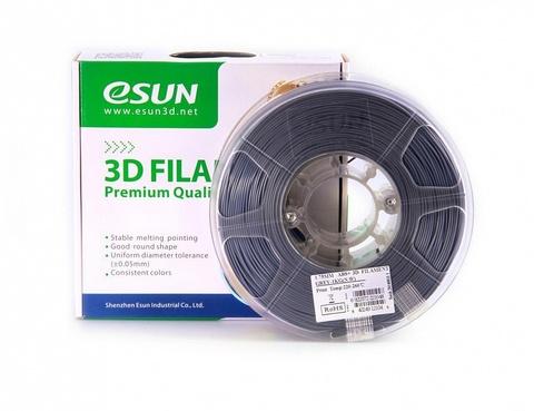 ESUN ABS+ 1.75 мм, 1 кг, серый