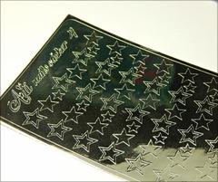 Металлизированные наклейки Arti nails Stiker цвет серебро №4
